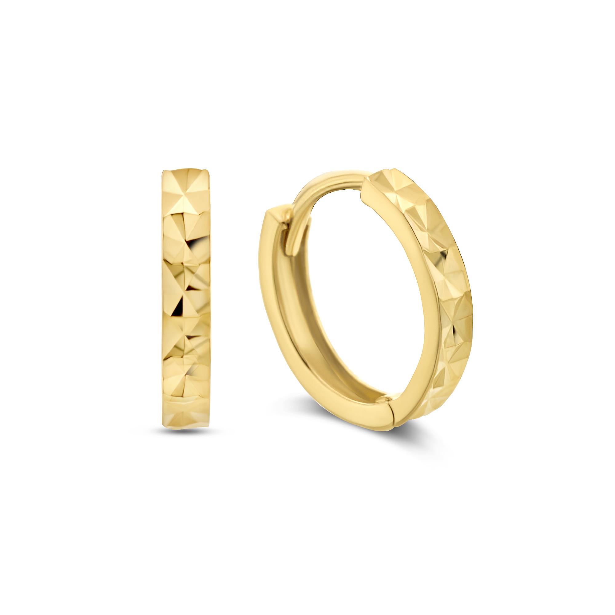 Isabel Bernard Rivoli Laure 14 karaat gouden creolen ring