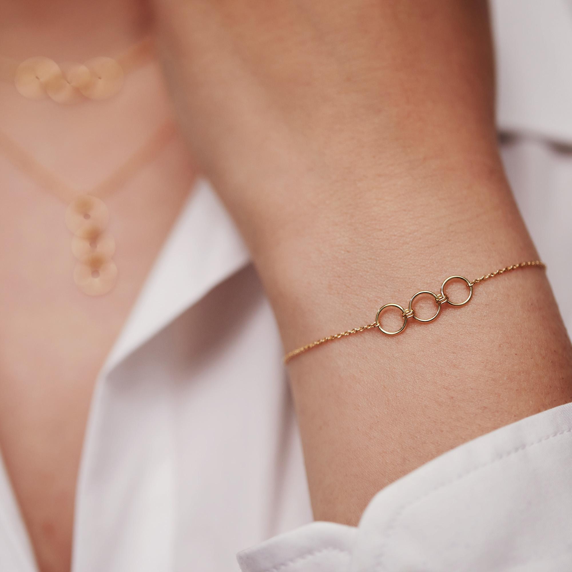 Isabel Bernard Belleville Anna bracelet en or 14 carats
