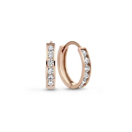 Isabel Bernard La Concorde  Tiphaine créoles en or rose 14 carats