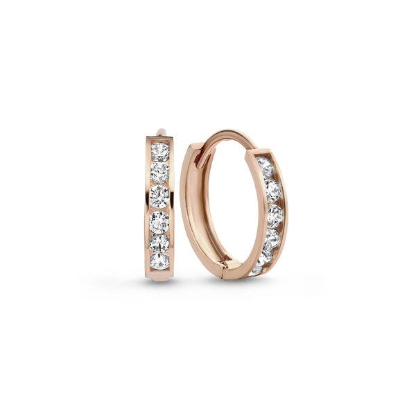 Isabel Bernard La Concorde Tiphaine creoli in oro rosa 14 carati