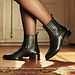 Isabel Bernard Vendôme Chey sorte kalveskind chelsea boots