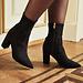 Isabel Bernard Vendôme Fem zwarte leren stretch heels