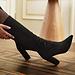 Isabel Bernard Vendôme Fem talons en daim stretch noir
