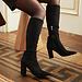 Isabel Bernard Vendôme Fem svarta klackar i suede stretch