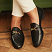 Isabel Bernard Vendôme Fleur schwarze Loafer aus Kalbsleder