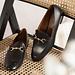 Isabel Bernard Vendôme Fleur black calfskin leather loafers