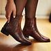 Isabel Bernard Vendôme Chey croco brune kalveskind chelsea boots