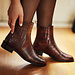 Isabel Bernard Vendôme Chey kroko braune Chelsea Boots aus Kalbsleder
