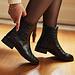 Isabel Bernard Vendôme Chey croco black calfskin leather chelsea boots