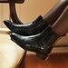 Isabel Bernard Vendôme Chey kroko schwarze Chelsea Boots aus Kalbsleder
