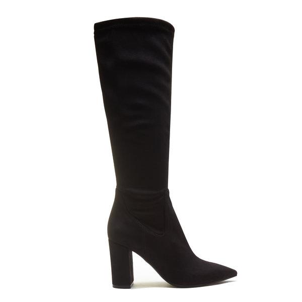Isabel Bernard Vendôme Fem in camoscio nero con tacchi elasticizzati