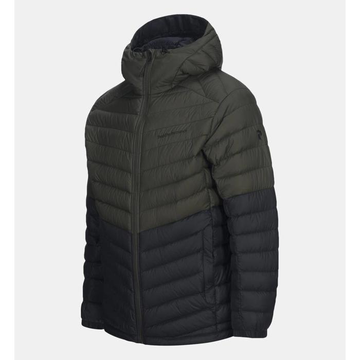 MEN'S PERTEX FROST DOWN HOODED BLOCKED JACKET