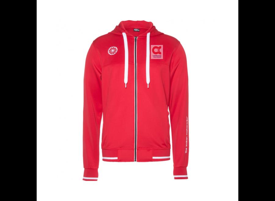 AthenA red hoodie men