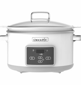 Crockpot Slowcooker Duraceramic Sauté White 5L
