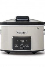 Crockpot Slowcooker Crème Wit Digital 3,5L