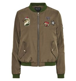ONLY O. Z17 PRIME BADGE BOMBER TARMAC
