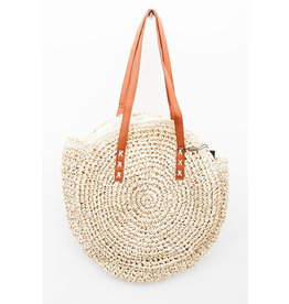 E. Z19 STRAW SHOPPING BAG NATURAL