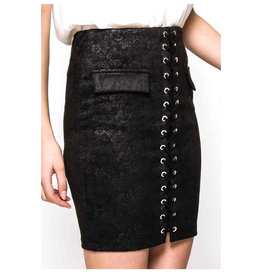 EXES Private E. W19 ROPER SKIRT BLACK