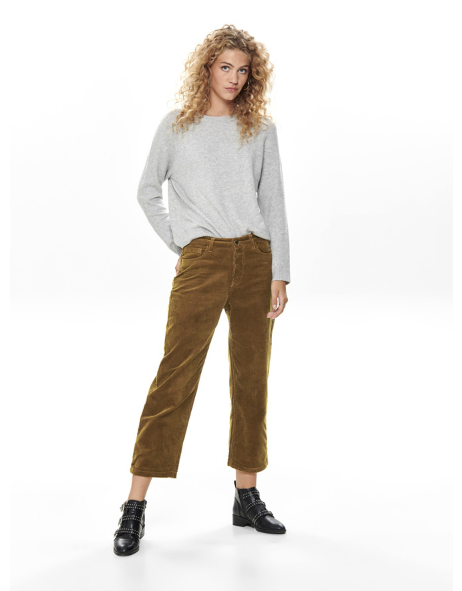 ONLY O. W19 BITTEN CORD PANT RUBBER