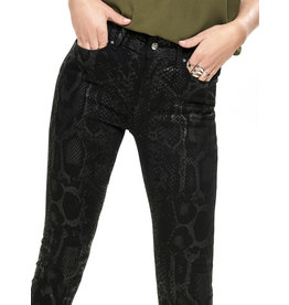 ONLY O. BLUSH SNAKE JEANS BLACK