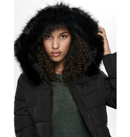 O. W19 CANA FUR JACKET BLACK