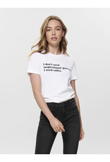 ONLY O. W19 STATEMENT T SHIRT WHITE