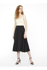 GABBI CALF SKIRT BLACK