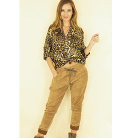 ANDRA SUEDE PANT CAMEL