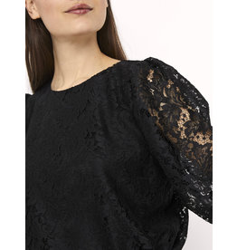 DONNA 3/4 LACE TOP BLACK