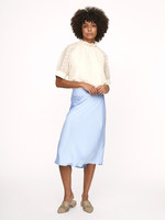 LAURA SATIN SKIRT BLUE