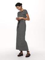 YAYA DRESS STRIPES BLACK