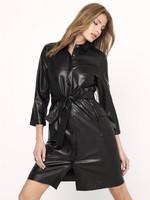 FALLO LEATHER DRESS BLACK