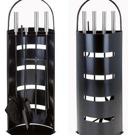 Home & Styling Openhaardset zwart (5 delig)