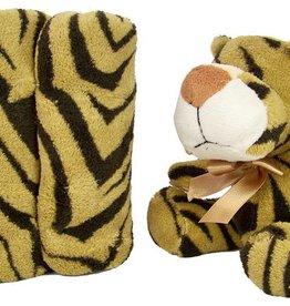 Pluche safari-dier met deken (tijger)
