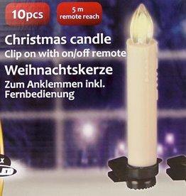 Christmas Gifts Set van 10 LED kerstkaarsen (met afstandsbediening)