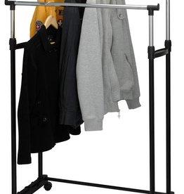 Storage Solutions Mobiel dubbel kledingrek (86x42x170)
