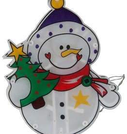 Kerstfiguur sneeuwpop met 10 LED's