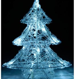 DecorativeLighting Acryl kerstboom  25cm met 16 LED's