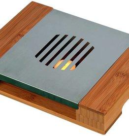 Bamboe RVS warmhoudplaat 28x21x5cm