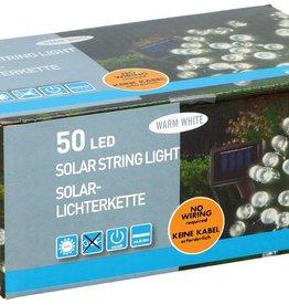 Grundig Solar snoerverlichting 50 LED's warm wit