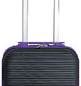 Leonardo Handbagage koffer duo-tone zwart / paars