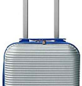 Leonardo Handbagage koffer duo-tone zilver / blauw