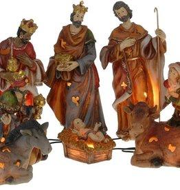 Kerstgroep met verlichting 20 cm