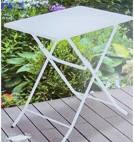 Ambiance Bistrotafel vouwbaar metaal wit 70x50cm