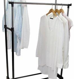 Verstelbaar dubbel kledingrek