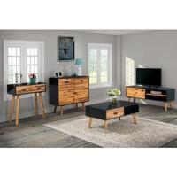 vidaXL Woonkamer meubelset massief acaciahout 4-delig - 4Discount.nl