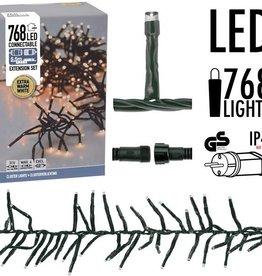 DecorativeLighting Koppelbare Clusterverlichting - 768 LED - 5.5m - warm wit