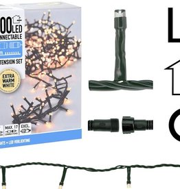 DecorativeLighting Koppelbare Kerstverlichting - 200 LED - 6m - warm wit