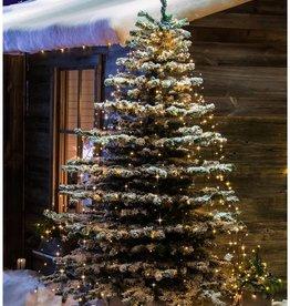 Konstsmide Lichtmantel - 400 cm - 8 strengen - buiten - vuurvliegeffect - extra warm wit