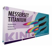 King Titanium messenset  (3 delig)